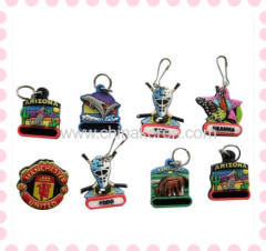 promotional custom 3d rubber pvc keychain