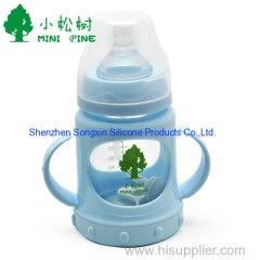 BPA free glass baby feeding bottle