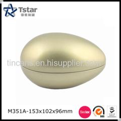 Egg shape tin box