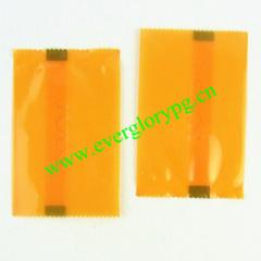 orange tiny plastic pill pouch bags