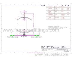 110KV POWER LINE SUSPENSION composite PLYMER GLASS STRING SET