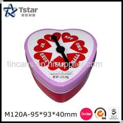 Heart Shape Tin Box