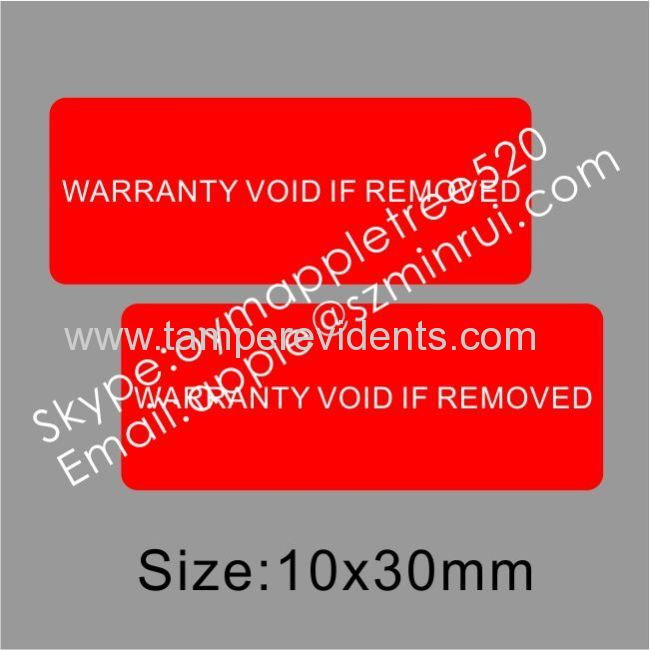 Warranty Void If Removed Security Label From China