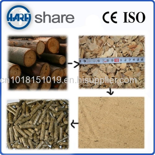 wood sawdust pellet press