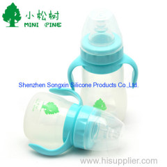 150ml Safe silicone cute baby feeding bottle