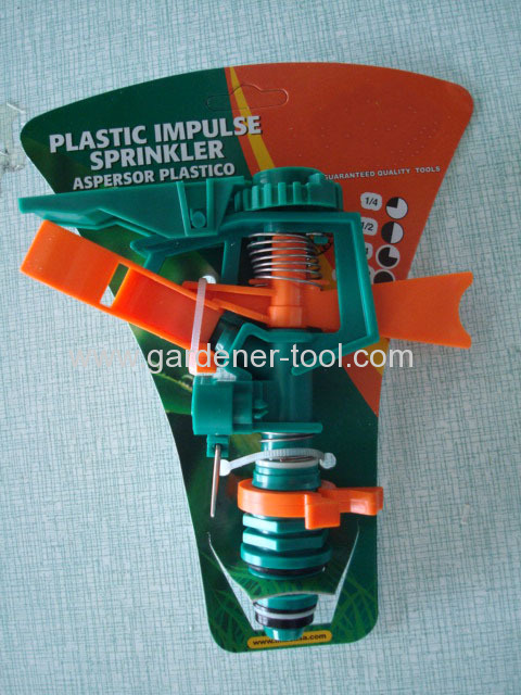 Plastic Impulse Irrigation Sprinkler for farm and garden irrigation