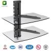 2 Tier Glass Shelf/Glass Shelf TV Wall Mount/DVD Shelf LCD Bracket TV Mount/ Video Shelf /DVD Bracket