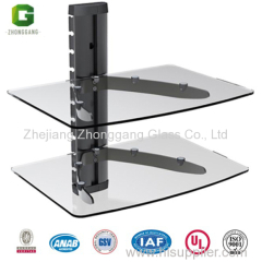2 Tier Glass Shelf/Glass Shelf TV Wall Mount/DVD Shelf LCD Bracket TV Mount/ Video Shelf /DVD Bracket