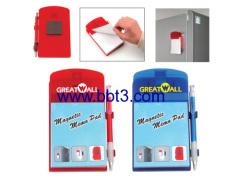 Promotional fridge magnet sticky notes with ballpen