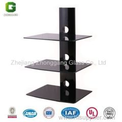 Glass DVD Shelf/Glass DVD Rack/DVD Wall Mount/DVD Shelf Brackets