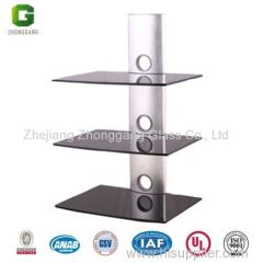 Glass Shelf for DVD/Glass Shelf for AV Components/Glass Rack for DVD/Glass Rack for AV Components
