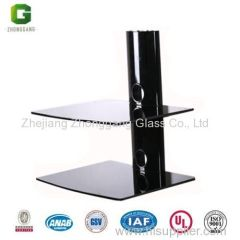 Black DVD Shelf/Wall Mount Shelves for DVD player/Glass Living Room DVD Shelves/DVD Shelf