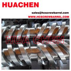 conical twin screws barrel