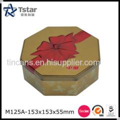 Octagonal Shape Tin Case