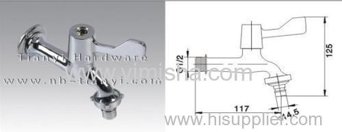 Brass Chrome Plated Water Tap for Washing Machine