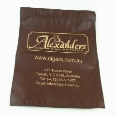 BIG cigar plastic bag with zipper