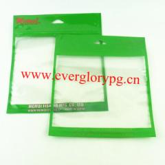 Clear zipper biodegradable plastic bags
