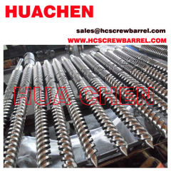 Extrusion conical screw barrel
