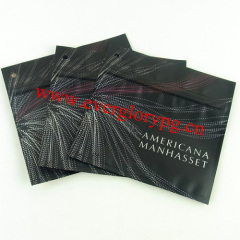 Matte aluminum foil bag for cosmetics with zipper