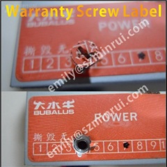 Orange Warranty Seal Stickers