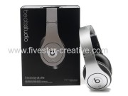 2013 Beats By Dr Dre Studio Headphones Silver