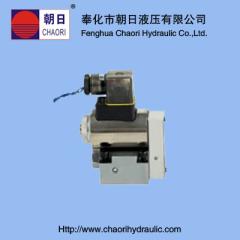 ball type electro magnetic cross valve