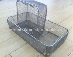 Stainless steel Wire Mesh medical sterilization Basket(L480xW250xH50mm)(factory)