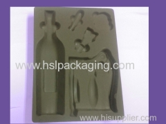 Flocking blister tray for body care gifting