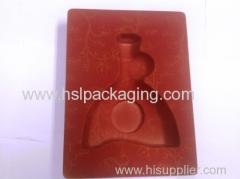 Red flocking insert plastic tray