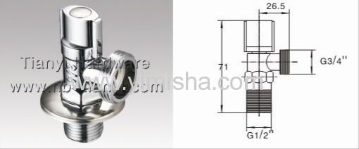 G1/2 *G3/4Brass Ceramic Sheet Triangle Valve