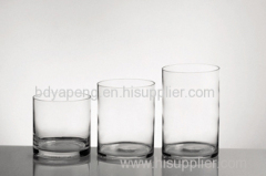 wholesale for glass vase, cylinder vase for home decoration, glassware, flower pot, candle holder