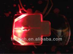 transparent optical usb led mouse