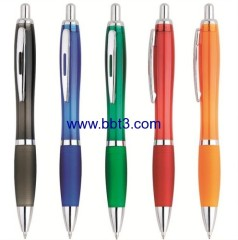 Hot selling promotional pen with translucent barrel and metal clip
