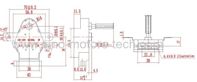 oven motor /synchronous motor49TYJ-F