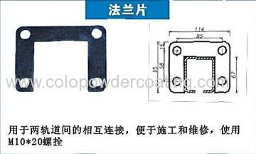 powder coating line flange