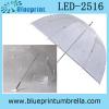 Metal Transparent Dome Shape LED Umbrella