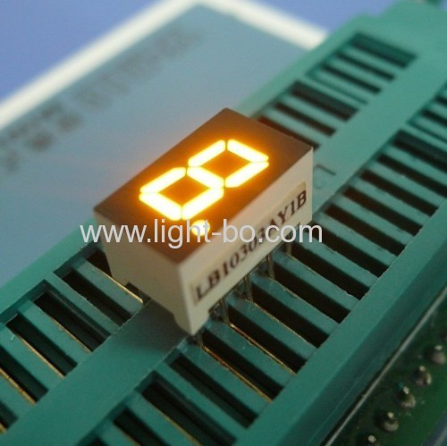 7.62mm (0.3 inch) Anode Green single digit 7-Segment LED Display for cooker hood -7.6 x 12.7 X6.1mm