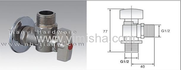 Brass Ball Core Triangle Valve