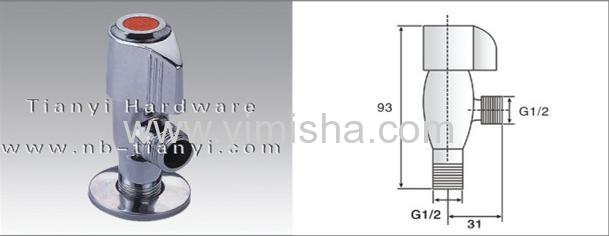 G1/2 *G1/2YIMISHABrass Ceramic Sheet Triangle Valve