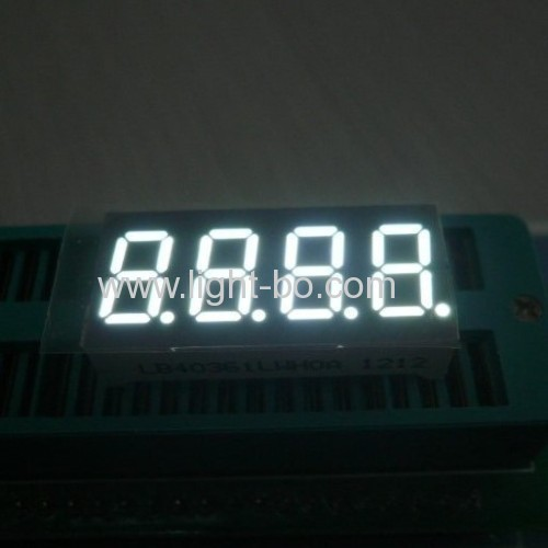 Super bright Red 4-Digit 0.36 inch ( 9.2mm ) anode 7-segment led display for i nstrument panel