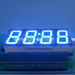 4 digit 14.2mm anode bue led 7 segment clock display