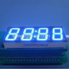 4 digit 14.2mm anode bue led 7 segment clock display