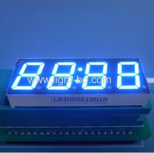 Ultra Blue Four-Digit 14.2mm ( 0.56 inch) Anode 7-Segment LED Clock Display