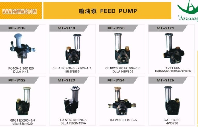 6BD1 PC200-3 EX200-1/2 FEED PUMP FOR EXCAVATOR