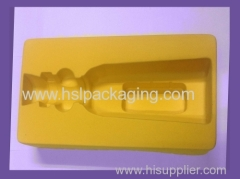 Thermo formed liner blister tray with flocking & velvet