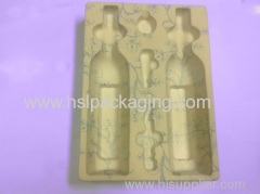 OEM provide flocking plastic trays for wine and toys and tools