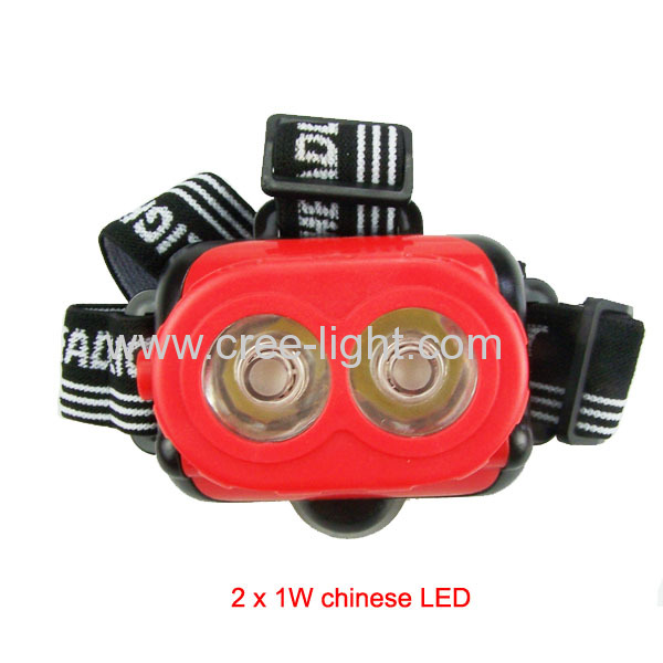 2013 New Patent High Power 2 x 1W LED Headlamp ACK-4040