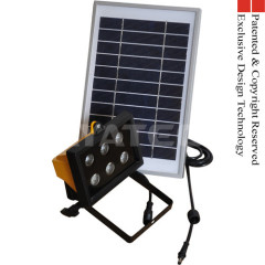2013 New Solar Power LED Light 6W Rechargeable Li-ion High quality