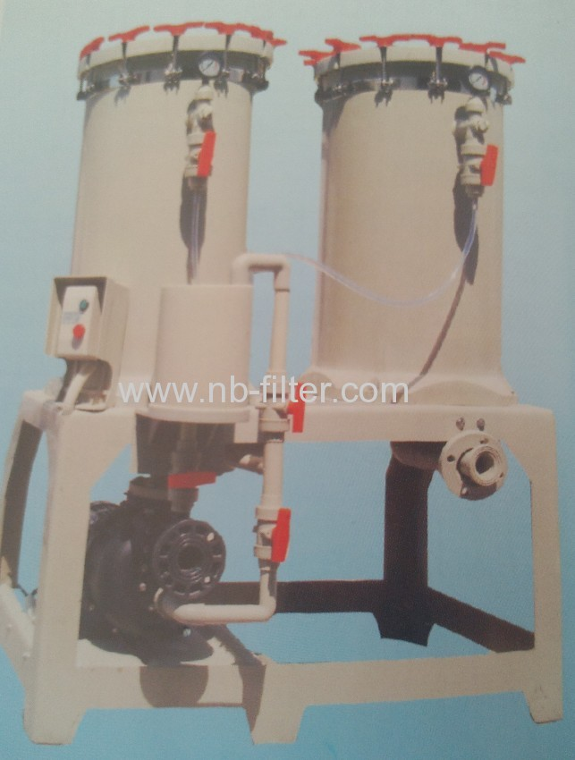 2013 Double Barrel In Series Electroplating Filter