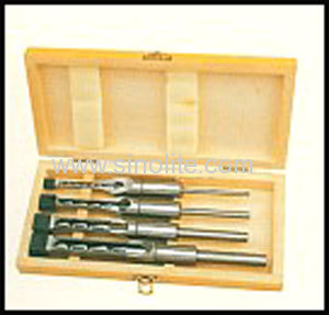 Mortising chisel and bit 4pcs/set 6-10-13-16mm (1/4 , 3/8 , 1/2 , 5/8 ) packed in wooden box